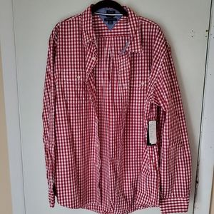 NEW Tommy Hilfiger XL red&White Mens Shirt